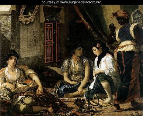 Eugene Delacroix and his Women of Algiers,1834