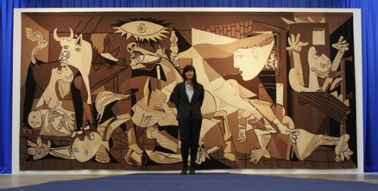 Picasso's life-size replica currently exhibited at the Whitechapel Galley