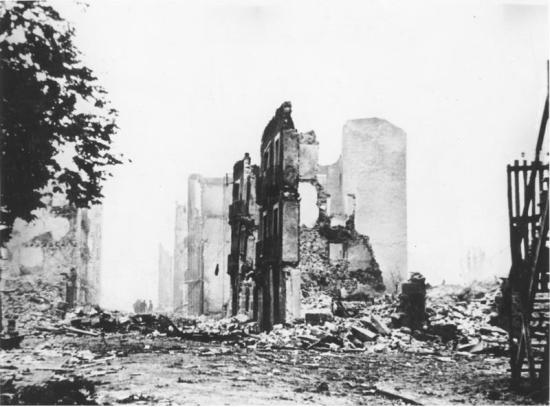 Guernika after the bombings.