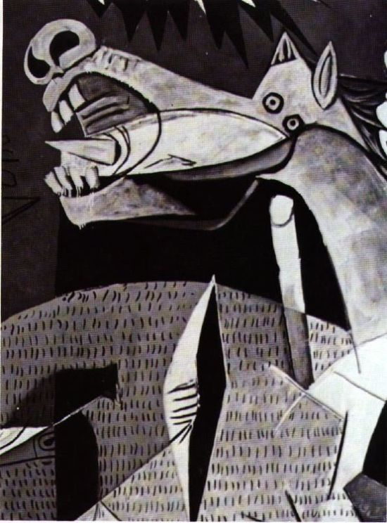 Guernica's mutilated horse-head.