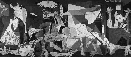 The tragedy of Guernica.